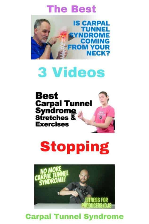 Pinterest Infographic 3 Best Videos Stopping Carpal Tunnel Syndrome