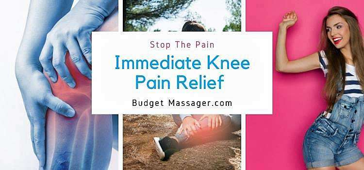 Percussion Massage For Immediate Knee Pain Relief