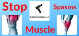 leg muscle spasms- stop with massage gun
